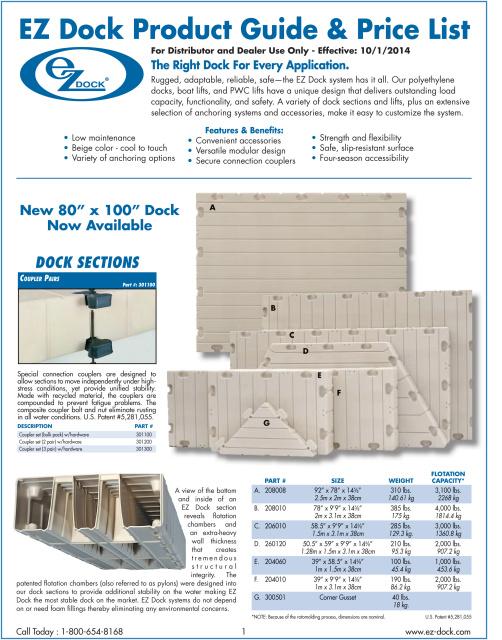 2018 Ez Dock Long Island Catalog