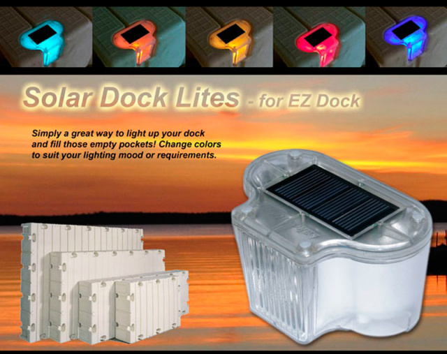 overhead solar dock lights